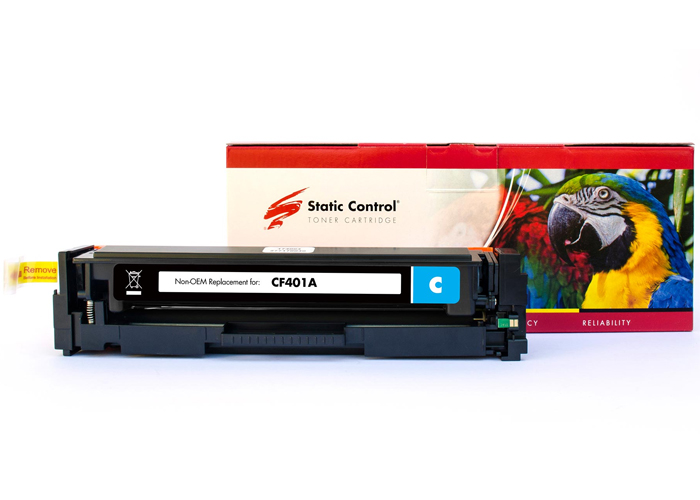 Картридж Static Control PARROT аналог Canon 045, HP CF401A (M252, M277, LBP611, LBP612, LBP613, MF632, MF634) Cyan