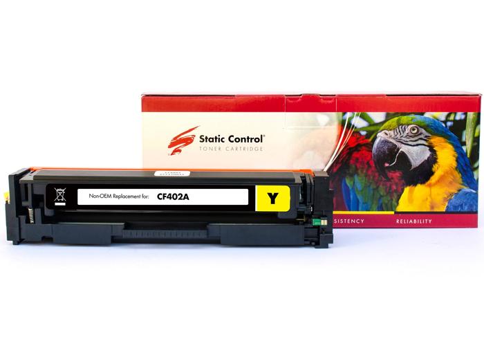 Картридж Static Control PARROT аналог Canon 045, HP CF402A (M252, M277, LBP611, LBP612, LBP613, MF632, MF634) Yellow