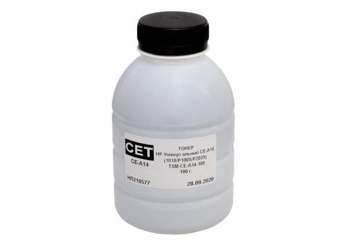 Тонер CET для Canon, HP універсальний 1010, 1200, P2015, P2035, P1505 (CE-A14-100) 100г