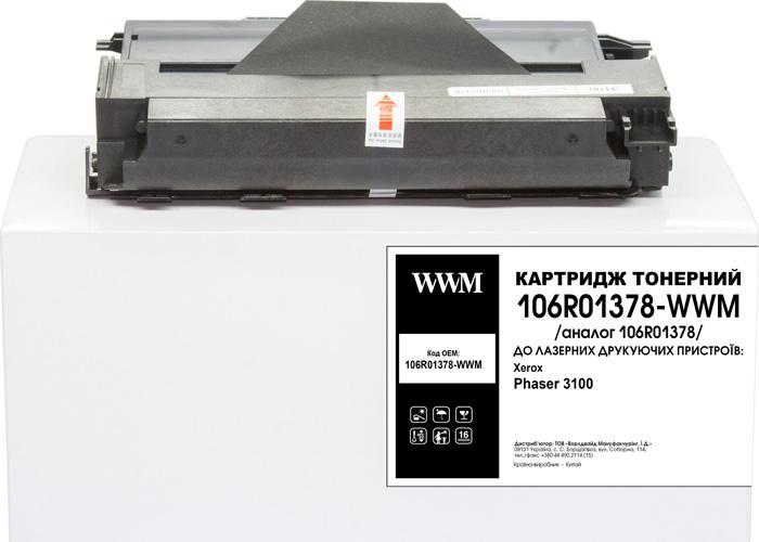 Картридж WWM для Xerox Phaser 3100 MFP аналог 106R01378 (3k)