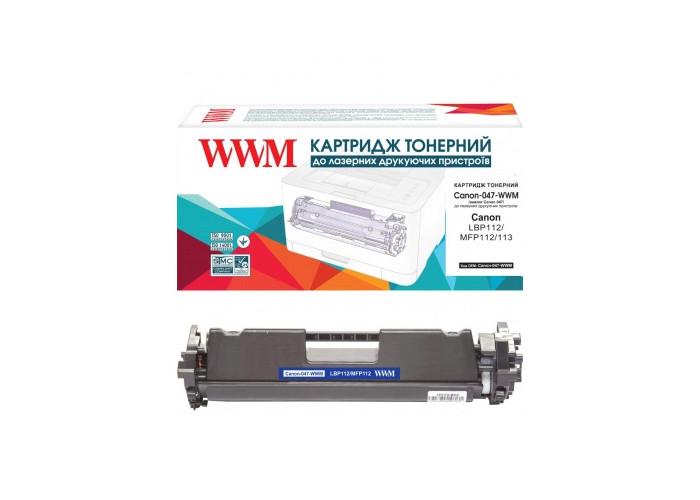 Картридж WWM аналог Canon 047 для LBP110, LBP112, MF110, MF112, MF113 (2164C002) 1.6k