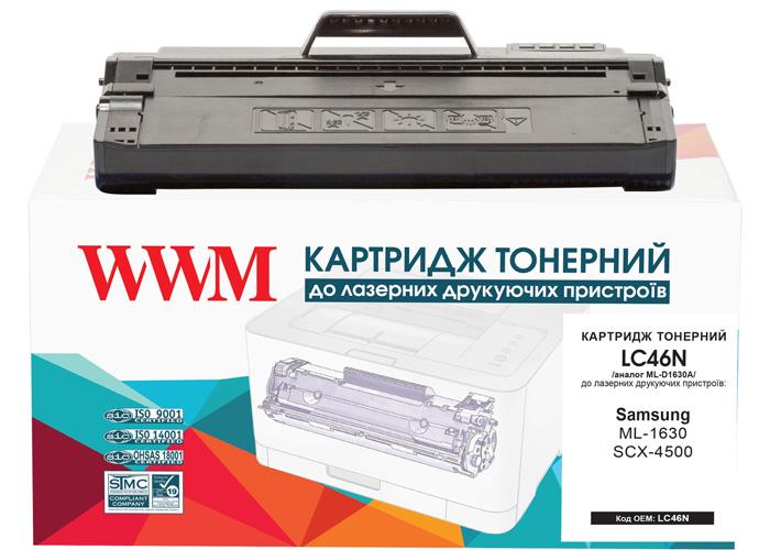 Картридж WWM аналог Samsung ML-D1630A для принтерів ML-1630, SCX-4500 (LC46N)