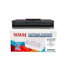 Картридж WWM для HP Laser 107, 135, 137 аналог W1106A (W1106-WWM)