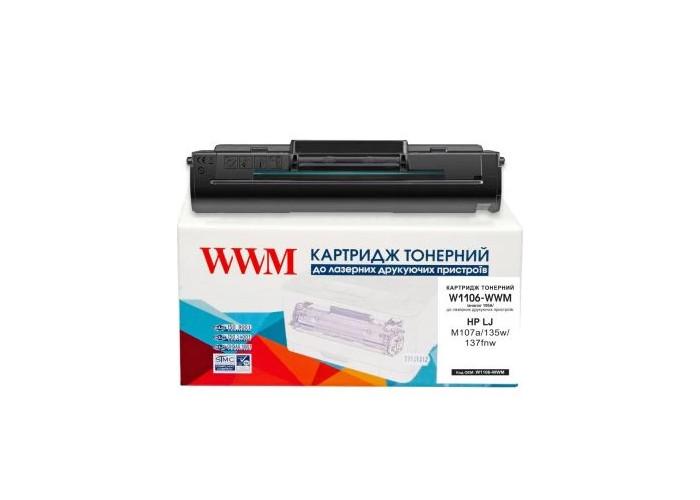 Картридж WWM для HP Neverstop Laser 107, 135, 137 аналог W1106A (W1106-WWM)
