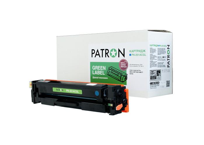 Картридж Patron Green Label аналог HP CF401A (PN-201ACGL) Cyan для Color M252, M277, M274