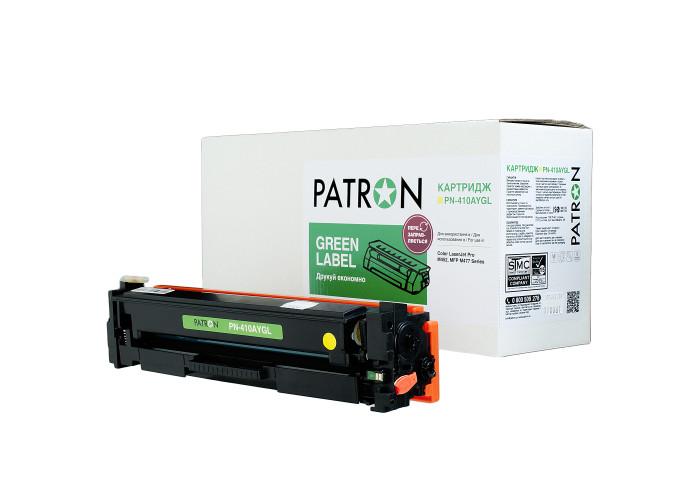 Картридж Patron Green Label аналог HP CF412A (PN-410AYGL) Yellow для M377, M452, M477
