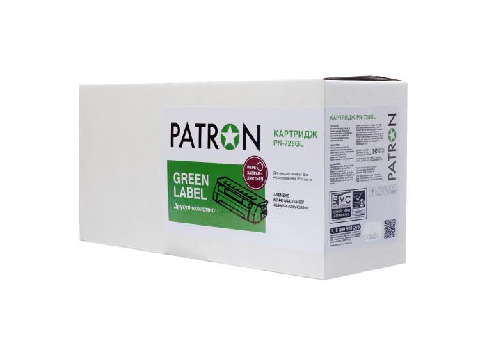 Картридж Patron аналог Canon 728 (PN-728GL) Green Label