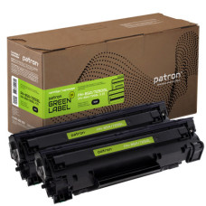 Картридж Patron аналог HP CE285A, Canon 725 (PN-85A, 725DGL) DUAL PACK Green Label