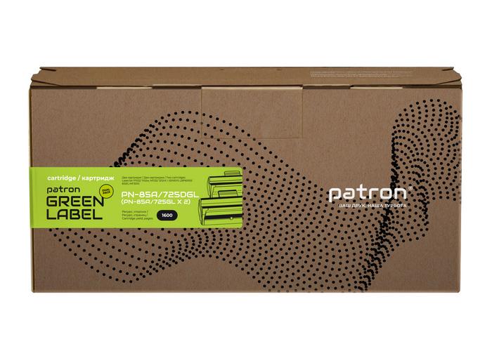 Картридж Patron аналог HP CE285A, Canon 725 (PN-85A, 725DGL) DUAL PACK Green Label