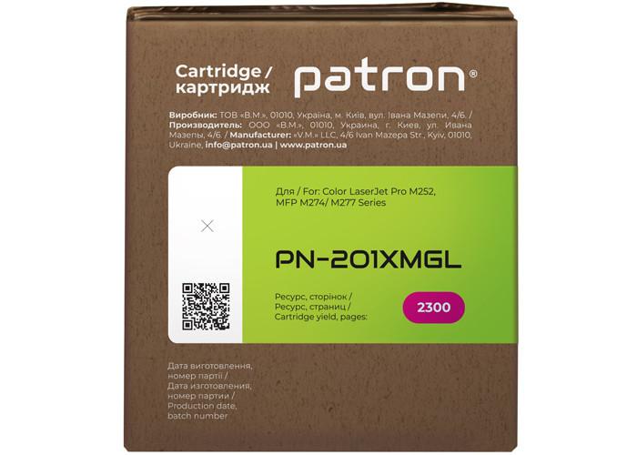 Картридж Patron Green Label аналог HP CF403X (PN-201XMGL) для Color M252, M277, M274 Magenta