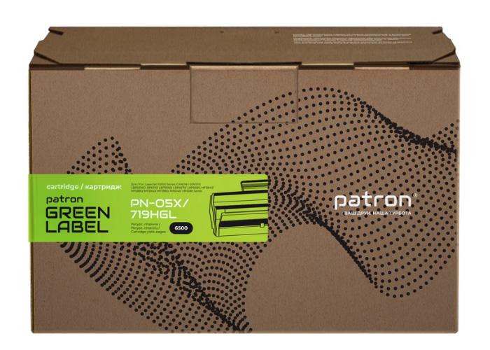 Картридж Patron аналог HP CE505X, Canon 719 H (PN-05X, 719HGL) Green Label