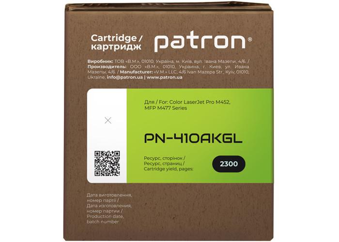 Картридж Patron Green Label аналог HP CF410A (PN-410AKGL) для M377, M452, M477 Black