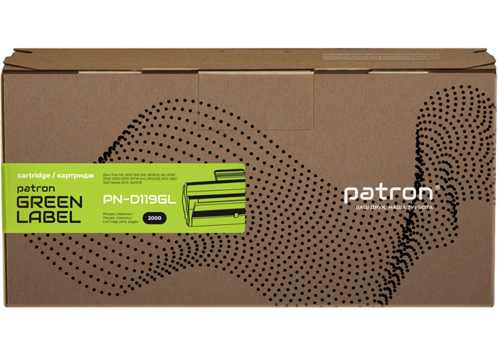 Картридж Patron аналог Samsung MLT-D119S (D119SPNGL) ML-1610, ML-2010, SCX-4521 Green Label