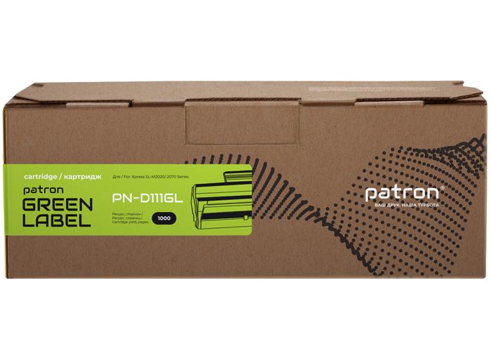 Картридж Patron аналог Samsung MLT-D111S для SL-M2020, M2070 (PN-D111GL) Green Label