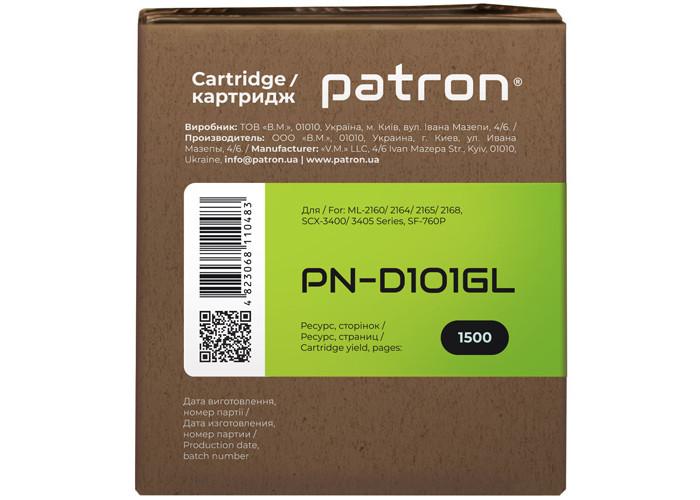Картридж Patron аналог Samsung MLT-D101S для ML-2160, ML-2165, SCX-3400 (PN-D101GL) Green Label
