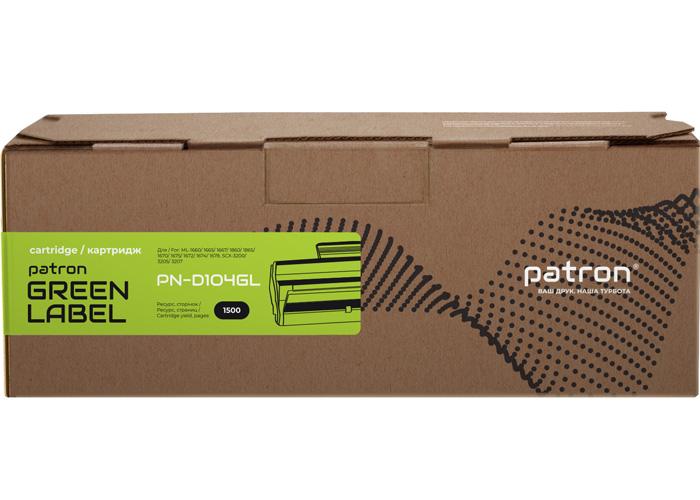 Картридж Patron аналог Samsung MLT-D104S для ML-1660, ML-1665, SCX-3200 (PN-D104GL) Green Label