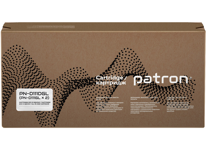 Картридж Patron аналог Samsung MLT-D111S для SL-M2020, M2070 (PN-D111DGL) DUAL PACK Green Label