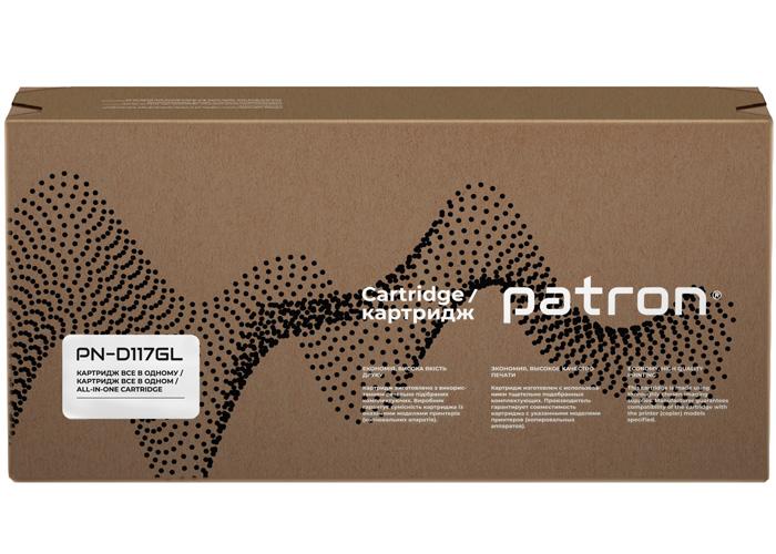 Картридж Patron аналог Samsung MLT-D117S для SCX-4650N, SCX-4655FN (PN-D117GL) Green Label