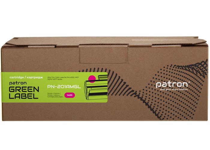 Картридж Patron Green Label аналог HP CF403A (PN-201AMGL) Magenta для Color M252, M277, M274