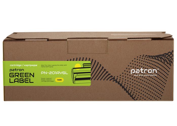 Картридж Patron Green Label аналог HP CF402A (PN-201AYGL) Yellow для Color M252, M277, M274