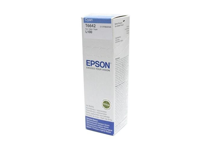 Чорнило Epson L100, L110, L200, L300, L365, L455, L486, L550, L565, L1300, L3050 (C13T66424A) Cyan