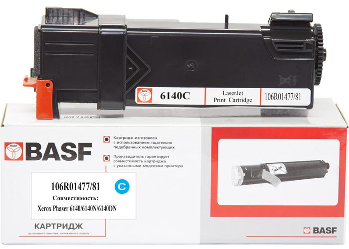 Картридж BASF для Xerox Phaser 6140 (106R01481/106R01477) Cyan