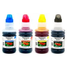Комплект чорнил для HP Ink Tank 115, 310, 315, 318, 319, Smart Tank 500, 530, 615, GT5810, GT5820 (4x100мл) Makkon