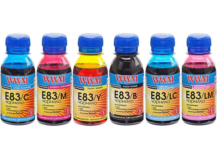 Чорнила WWM для Epson T50, P50, R270, PX660, TX650 (E83SET-2) 6х100мл світлостійкі