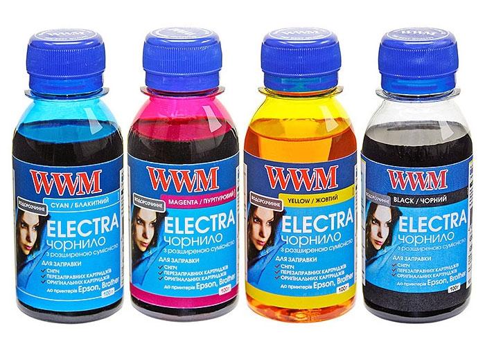 Чорнила універсальні WWM ELECTRA для Brother, Epson (ELECTR.SET42) 4x100мл