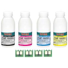 Набор для заправки HP 130A для принтера Color M176, M177 (CF350A, CF351A, CF352A, CF353A) WWM