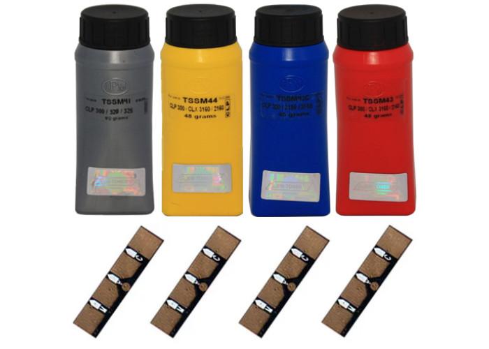 Набір для заправки принтерів Samsung CLP-320, CLP-325, CLX-3185 (407S) IPM
