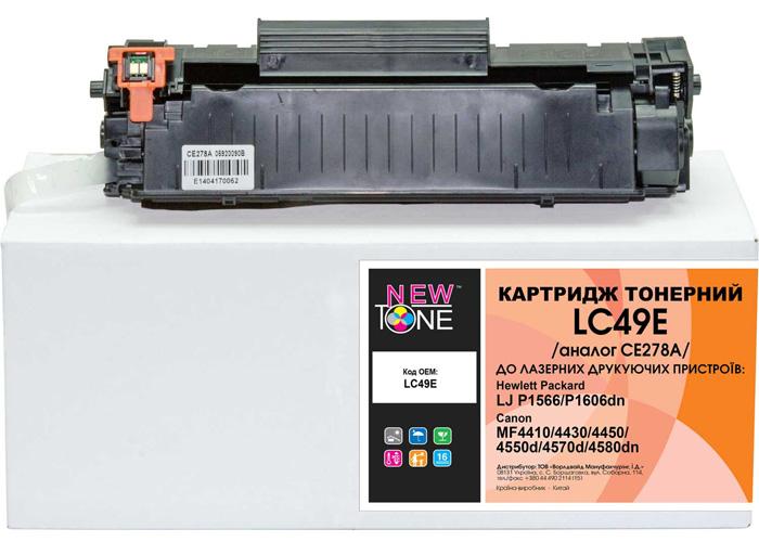Картридж NewTone аналог CE278A, Canon 728 для HP P1566, P1560, P1606, M1536, MF4410, MF4550