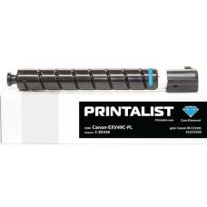 Туба з тонером PRINTALIST аналог Canon C-EXV49 для iR C3320, C3325, C3330, C3520, C3525 (8525B002) Cyan