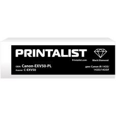 Картридж з тонером PRINTALIST аналог Canon C-EXV50 (iR1435, iR1435i, iR1435iF, iR1435P)