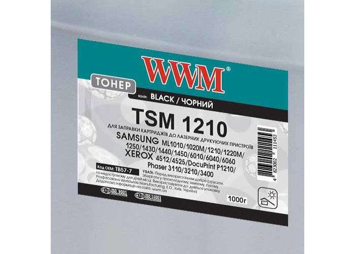 Тонер WWM TSM1210 універсальний для Samsung, Xerox, Lexmark (TB57-7-900) 900г