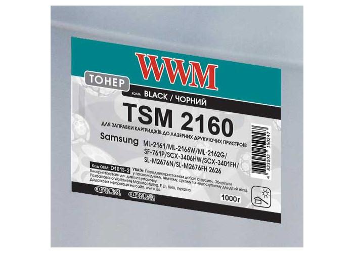 Тонер WWM TSM2160 для Samsung ML-2160, SCX-3400, M2020, M2070, M2626 (D101S-2) 1кг
