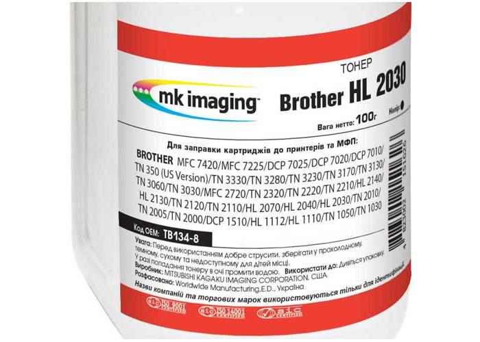 Тонер Mitsubishi для Brother HL-2030, HL-2040, HL-2070, HL-2140, DCP-7010 (TB134-8) 100г