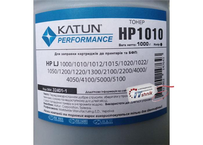 Тонер KATUN HP1010 для HP 1012, 1020, 1200, 1300, 2100, 2200, 4000, 5000 (32401-1) 1кг