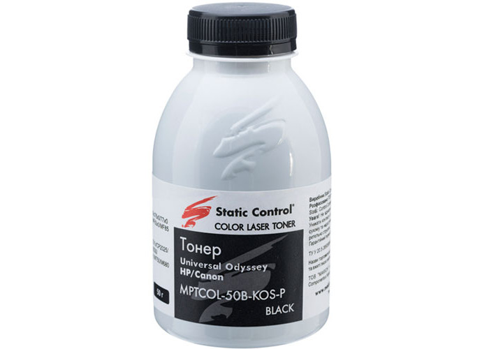 Тонер SCC для Canon LBP-5050, HP CP1215, CP1525, CM1415, M251, M351, M476 (MPTCOL-50B-KOS-P) Black 50г