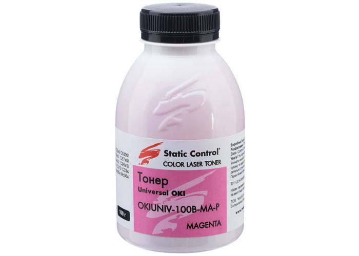 Тонер SCC для OKI універсальний Glossy Magenta (OKIUNIV-100B-MA-P) 100г