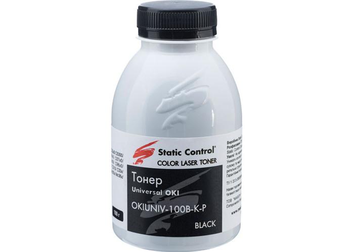 Тонер SCC для OKI універсальний Glossy Black (OKIUNIV-100B-K-P) 100г