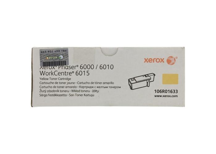 Картридж Xerox Phaser 6000, 6010, WorkCentre 6015 (106R01633) Yellow