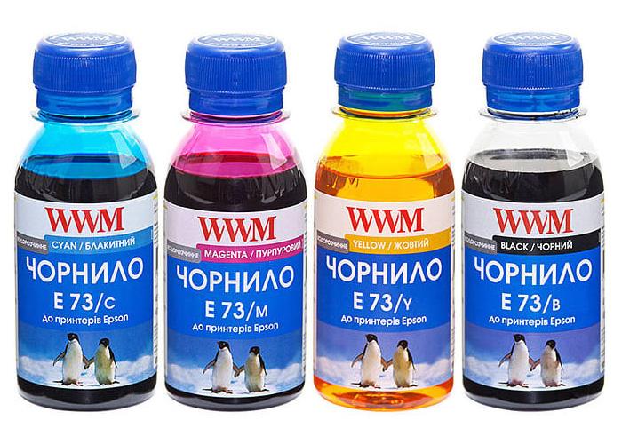 Комплект чорнил WWM для Epson TX119, TX209, TX419, WF7015, WF7515, WF7520, WF7525 (E73SET-2) 4х100мл