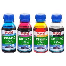 Чорнила WWM для HP №121, №130, №140, №134, №901 (H35SET-2) 4x100мл для СБПЧ