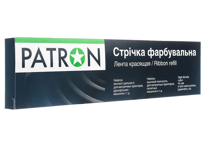 Стрічка фарбована для матричних картриджів, 12,7мм x 20м, правий мебіус Black, HD Patron