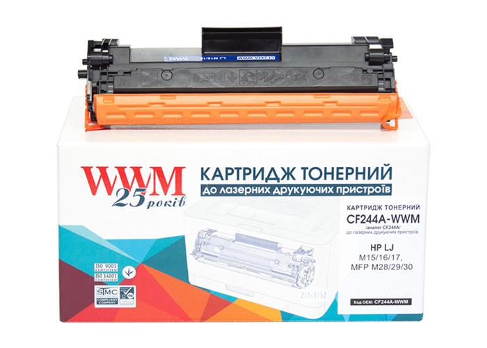 Картридж WWM аналог HP 44A, CF244A для Pro M15, M16, M17, M28, M29, M30, 1k